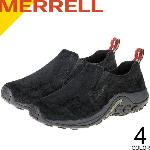 メレル MERRELL ジャングルモック メンズ スニーカー スリッポン ウォーキングシューズ トレッキングシューズ 靴 おしゃれ 疲れない 通気性 滑りにくい 黒 スエード カジュアル アウトドア 登山 Jungle Moc