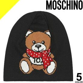 モスキーノ ビーニー ニット帽 帽子 レディース メンズ ビーニーキャップ ウール テティベア ロゴ ブランド ウール 黒 白 赤 ブラック ホワイト レッド ネイビー ピンク MOSCHINO M2334 65223 [ネコポス発送]