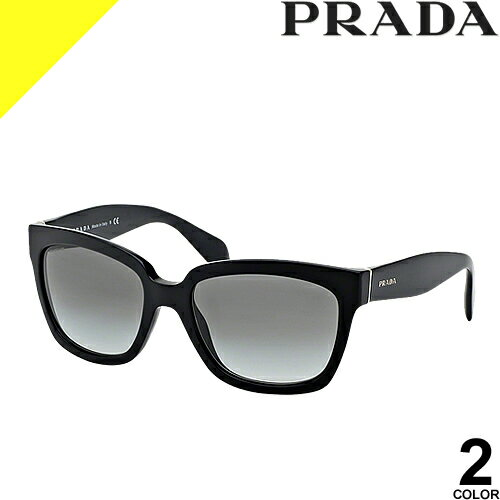 [定価30,240円→17,199円] プラダ サングラス レディース メンズ uvカット 黒縁 薄い色 ブランド 紫外線対策 専用ケース付き ウェリントン 軽量 PRADA 07PSA 2AU6S1 1AB0A7