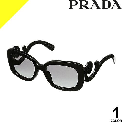 [定価32,400円→17,399円] プラダ サングラス レディース メンズ uvカット 黒縁 薄い色 ブランド 紫外線対策 専用ケース付き スクエア 軽量 PRADA 27OSA 1AB3M1