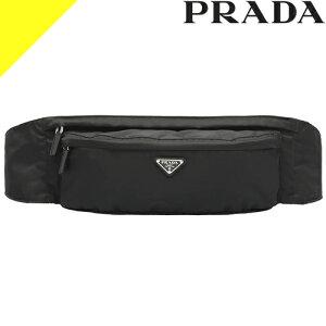 プラダ ナイロンベルトバッグ ボディバッグ ウエストポーチ メンズ 男性 黒 ブラック ネロ PRADA Nylon Belt Bag 2VL132 973 F0002 正規品証明書付き