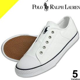 ポロ ラルフローレン Polo Ralph Lauren スニーカー スリッポン シューズ 靴 レディース 白 赤 紺 軽量 夏 疲れない おしゃれ かわいい ブランド 軽い 歩きやすい キャンバス ROWENN