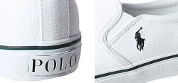 PoloRalphLaurenポロラルフローレンスニーカーレディーススリッポン靴白黒紺ホワイトブラックキャンバスおしゃれ歩きやすいCarleeTwinGore2