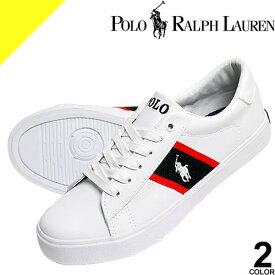 ポロ ラルフローレン Polo Ralph Lauren スニーカー レディース 靴 ブランド シンプル おしゃれ かわいい ワンポイント 白 紺 ホワイト ネイビー GEOFF