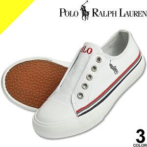 ポロ ラルフローレン Polo Ralph Lauren スリッポン シューズ 子供靴 キッズ ジュニア 女の子 男の子 白 赤 紺 カジュアル 軽量 ブランド 17cm 18cm 19cm 20cm ROWENN RALLYE