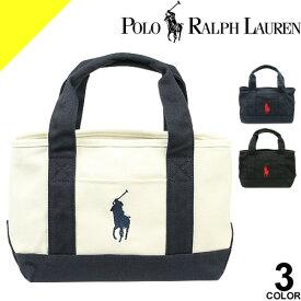 ポロ ラルフローレン バッグ トートバッグ レディース ビッグポニー SMスモールサイズ ブランド キャンバス 布 小さめ 黒 白 ブラック ネイビー ホワイト Polo Ralph Lauren School Tote Small [ネコポス発送]