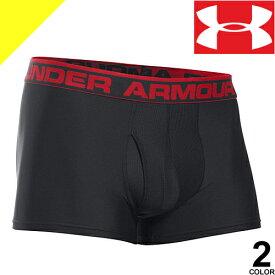 UNDER ARMOUR アンダーアーマー ボクサーパンツ 下着 パンツ アンダーウェア メンズ ヒートギア 2枚セット ブランド 大きいサイズ UA Tech 3 Boxerjock 2-Pack 1327414 [ネコポス発送]