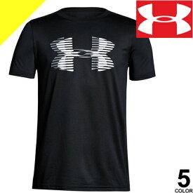 アンダーアーマー UNDER ARMOUR Tシャツ キッズ ヒートギア 半袖 ロゴ ランニングウェア スポーツウェア 大きいサイズ コーディネート UA Tech Big Logo Solid 1306073 1309307 [ネコポス発送]