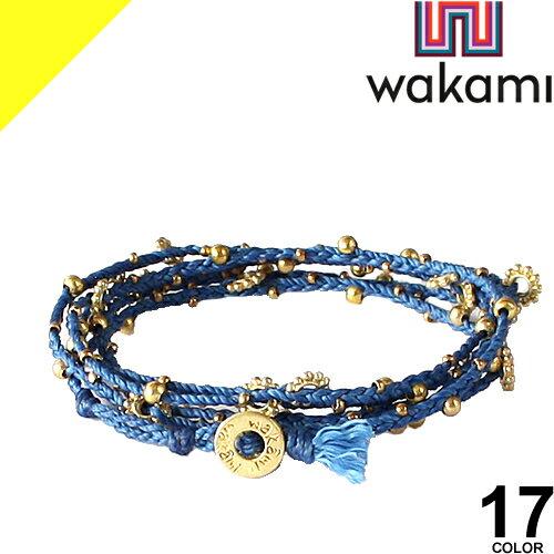 ワカミ wakami ブレスレット メンズ レディース アンクレット ラップブレス ミサンガ アクセサリー ペア カップル つけっぱなし ブランド Long Wrap Bracelet [ネコポス発送]