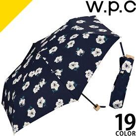 wpc w.p.c 折りたたみ傘 雨傘 2019年新作 晴雨兼用 レディース 軽量 丈夫 撥水 uvカット かわいい おしゃれ ブランド 紫外線対策 花柄 50cm 6本骨