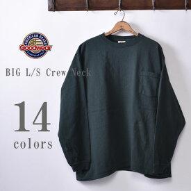2019年モデル【GOOD WEAR】グッドウェアBIG L/S Crew Neck Pocket T-shirts XXL 2XLビッグ 長袖 クルーネックポケットTシャツ日本正規代理店 ソーズカンパニー全14色[ゆうパケット対応]z10x