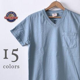 2020年モデル【GOOD WEAR】グッドウェアS/S V neck Pocket T-shirts半袖 VネックポケットTシャツ日本正規代理店 ソーズカンパニー全15色[ゆうパケット対応]《S-30》
