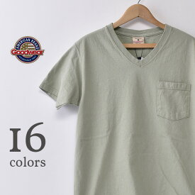 2021年モデル【GOOD WEAR】グッドウェアS/S V neck Pocket T-shirts半袖 VネックポケットTシャツ日本正規代理店 ソーズカンパニー全16色[ゆうパケット対応]z10x