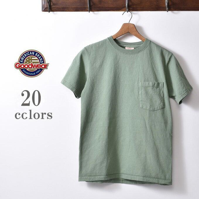 2018年版MADE IN USA【GOOD WEAR】グッドウェアS/S crew neck Pocket T-shirts半袖 クルーネックポケットTシャツ全15色[ゆうパケット対応]z10x
