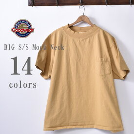 2019年モデル【GOOD WEAR】グッドウェアBIG S/S Mock Neck Pocket T-shirts XXL 2XLビッグ 半袖 モックネックポケットTシャツ日本正規代理店 ソーズカンパニー全14色[ゆうパケット対応]z10x