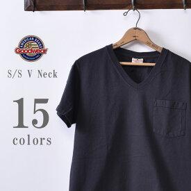 2019年モデル【GOOD WEAR】グッドウェアS/S V neck Pocket T-shirts半袖 VネックポケットTシャツ日本正規代理店 ソーズカンパニー全15色[ゆうパケット対応]z10x