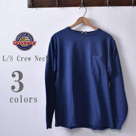 2018年カラー【GOOD WEAR】グッドウェアL/S Crew Neck Pocket T-shirts長袖 クルーネックポケットTシャツ日本正規代理店 ソーズカンパニー全3色[ゆうパケット対応]《S-30》