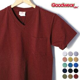 2017年モデル【GOOD WEAR】グッドウェアS/S V-NECK Pocket T-shirts半袖 VネックポケットTシャツ全15色[ゆうパケット対応]《S-30》