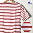 《ゆうパケットで送料無料》【SAINT JAMES】セントジェームスPIRIAC(ピリアック)半袖TシャツNEIGE/TULIPE(ホワイト…