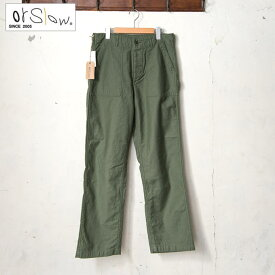 【orslow】オアスロウMEN'S US ARMY FATIGUE PANTS(01-5002)メンズ USアーミー ファティーグパンツ4ポケ 軍パングリーン(16)z5x