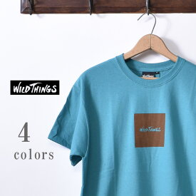 ★50%OFF SALE!【WILDTHINGS】ワイルドシングスSQUARE WILD THINGS TEE(WT19031H)スクエアーワイルドシングス Tシャツ全4色[ゆうパケット対応]