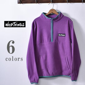 【WILDTHINGS】ワイルドシングスFLEECE MAGIC PULLOVER(WT19133PA)フリースマジックプルオーバー全6色(BLACK・IVORY・PURPLE・OLIVE・RED・EMERALD)z10x