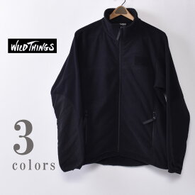 【WILDTHINGS】ワイルドシングスPOLARTEC WIND JACKET(WT21103N)ポーラーテックウインドジャケット フリースジャケット全3色(BLACK・S.GREY・OLIVE)z10x