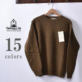 ★30%OFF SALE!【INVERALLAN】インバーアランCREW NECK SHETLAND SWEATERクルーネック シェットランドセーター ニット全15色