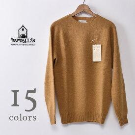 【INVERALLAN】インバーアランCREW NECK SHETLAND SWEATERクルーネック シェットランドセーター ニット全15色
