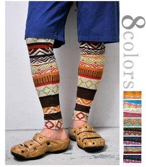 HealthNet Jacquard leggings ( spats ) ethnic pattern geometry size 1 M 6 colors