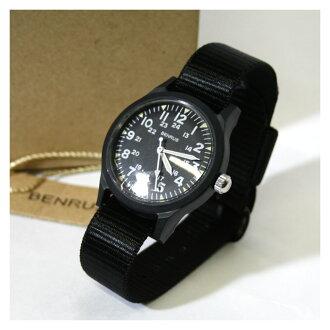 贝雅 BR763 军事手表 (军事手表) 手表黑色