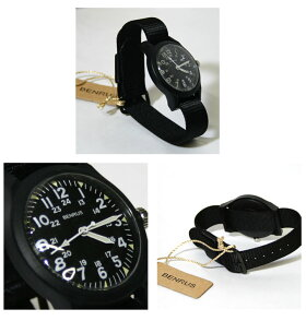 【BENRUS】ベンラスBR763MilitaryWatch(ミリタリーウォッチ)時計ブラック