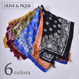 【OLIVE&PIQUE】オリーブ&ピケNECK SCARF BANDANAネックスカーフ全6色[ゆうパケット対応]