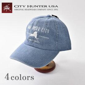 【CITY HUNTER USA】シティハンターDENIM CAPデニムキャップ全4色[ゆうパケット対応]《S-70》
