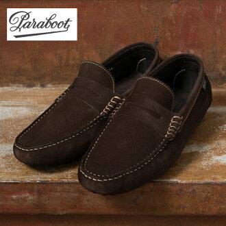 Paraboot 蜘蛛/PICOTS (蜘蛛/Picot) 驾驶鞋皮鞋 VEL 摩卡 (深棕色)