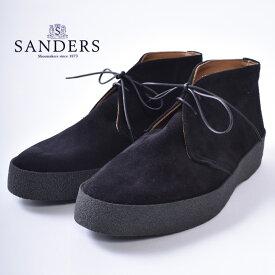 【SANDERS】サンダース6480 HI TOP CHUKKA / PLAYBOY CHUKKA BOOTSハイトップ チャッカブーツMAD GUARD RubberBLACK ブラック《S-20》