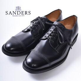【SANDERS】サンダースTOECAP GIBSON(1128)トゥキャップ ギブソン レザーシューズBLACK ブラック