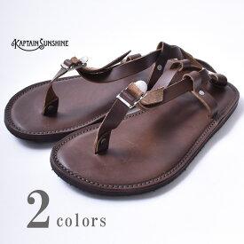 ★30%OFF SALE!【KAPTAIN SUNSHINE】キャプテンサンシャインHilltribe Sandal(KS9SGD04)ヒルトライブサンダル全2色(Brown・Black)