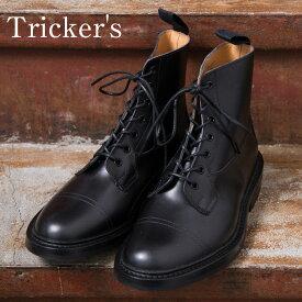 【Tricker's】トリッカーズM6895 Grassmere グラスミアイミテーションキャップトゥブーツBLACK(ブラック)《S-30》