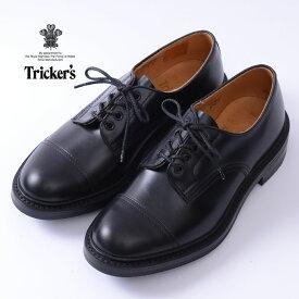 【Tricker's】トリッカーズM7195 Cap Toe Country Shoesキャップトゥカントリーシューズブラック《S-30》