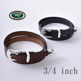 【Tory Leather】トーリレザー トリーレザー3/4インチ 3-Piece Silver Buckle Setスリーピースシルバーバックスセットベルト全2色