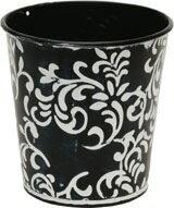 ジンクジャスミン S ブラック (1コ入り) 【花器】【花瓶】【コンポート】【花資材】【花材】【フラワーベース】【ポット】【ブリキ】【ネイチャーデザインズ】