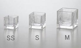☆☆ ガラスポット ブロックSS (1コ入り) 【花器】【花瓶】【コンポート】【花資材】【花材】【フラワーベース】【ガラス】【激安】【アレンジメント】【インテリア】【ディスプレイ】