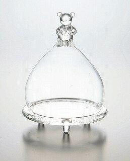 ベアーグラスドーム SS FR-505 【花器】【コンポート】【花資材】【花材】【フラワーベース】【ガラス】【松野工業】