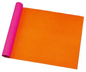 ビスクレープ 74×20 #041 フューシャ/オレンジ【花資材】【花材】【ラッピング】【プレゼント】【ギフト】【包装紙】【東京リボン】