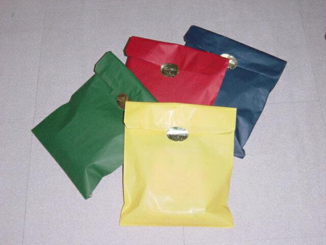 おしゃれラッピング紙袋(小)シール付き