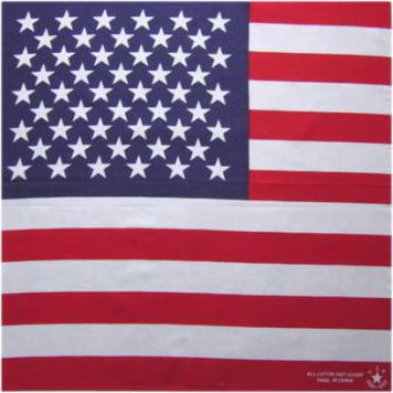 アメリカ国旗バンダナ「綿100%・日本製」【コットンハウス】
