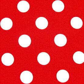 水玉 ドット ブロード 生地 ブロード生地 色 : 赤 水玉の大きさ : 大(直径約22mm) 【価格は10cm価格】 【40cmから注文可】 【水玉柄】【ドット柄】【水玉生地】【ドット生地】【布】【綿】【ミニーマウス ミニー】【ハロウィン】