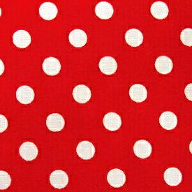 水玉 ドット ブロード 生地 ブロード生地 色 : 赤 水玉の大きさ : 小(直径約7mm) 【価格は10cm価格】 【50cmから注文可】 【水玉柄】【ドット柄】【水玉生地】【ドット生地】【布】【綿】【ミニーマウス ミニー】【ハロウィン】
