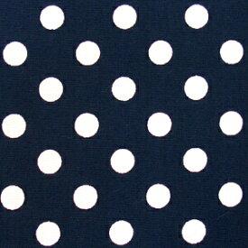 水玉 ドット ブロード 生地 ブロード生地 色 : 紺 水玉の大きさ : 小(直径約7mm) 【価格は10cm価格】 【50cmから注文可】 【水玉柄】【ドット柄】【水玉生地】【ドット生地】【布】【綿】